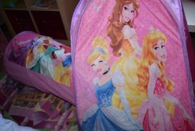 pop up tent with tunnel disney princess