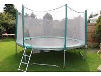 Lovely 14ft Trampoline. TP. Safety net and spring cover. Stored indoors