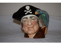 Long John Silver Royal Dolton Toby Jug Jar - £20.00