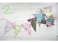 Vintage Style Floral Washable Cotton Bunting.