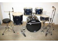 Tama Imperialstar Midnight Blue 5 Piece Full Drum Kit (22in Bass) + All Stands + Cymbal Set