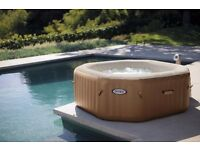 HOT TUB HIRE COMPLETE WITH GAZEBO AND PARTY LIGHTING