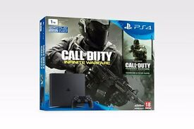 PS4 Slim 1TB Black - 8+ Games, MWR, IW, Skyrim SE, Rocket League etc