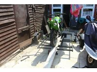 single motorbike trailer with ramp