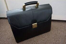 Business Satchel Bag Work Briefcase (Black)
