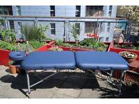 "MASSAGE TABLE: Porta-Lite Delta II Professional (NEW). Lightweight & Portable. 11.5kg, 28"" Wide"