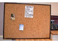 Cork noticeboard/ pin board