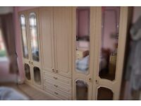 bedroom suite, wardrobes, bedside drawers, dressing table, mirror and seat
