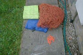 football net,bag,pegs/clips