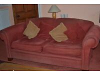 3-seater sofa, fabric with four scatter cushions