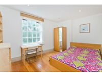 2/3 double bed in a popular mansion block. Wood floors, modern eat-in kitchen, large reception room