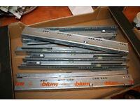 4 pairs Blum Tandembox Blumotion drawer runners (450MM 30kg)