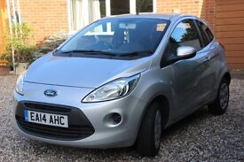 Ford KA Edge 1.2 (2014) Silver 3 door hatch back in immaculate condition.