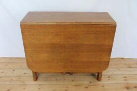 Vintage Gate leg oak dining table, vintage, 5ft x 3ft