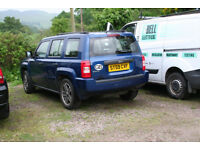 Nice Blue Jeep for sale in Scotland great for snow