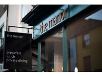 The Manor is looking for a chef to prep & serve our fresh cooked breakfasts & lunches