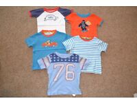 5 TEE SHIRTS FROM BABY GAP & JOHN LEWIS - VERY GOOD CONDITION