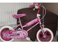 "Girls Avigo Precious Bike 12"" - INCLUDES STABALISERS NOT IN PHOTO"