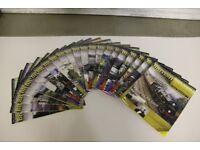 DeAgostini British Steam Railways Collection - 22 Magazines and 27 Still-Sealed DVDs