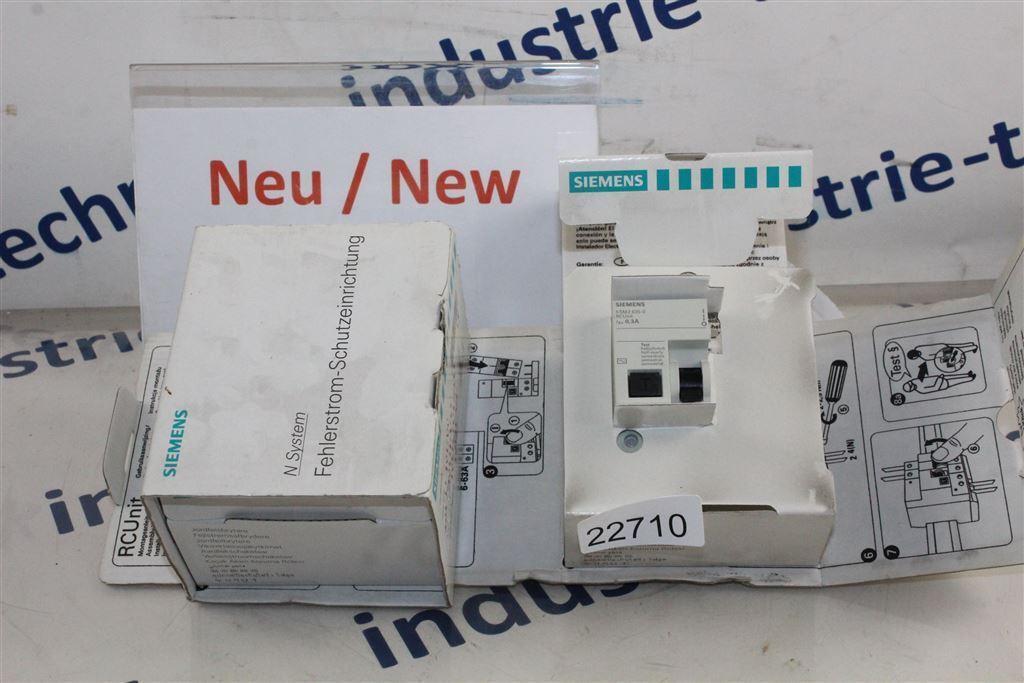 SIEMENS 5SM2 625-0 RCUnit Fehlerstrom- Schutzeinrichtung 5SM26250RCUnit
