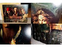 Eight (8) Original Movie Premier Posters
