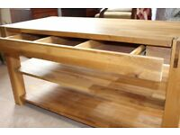 Beautiful hardwood TV stand / table
