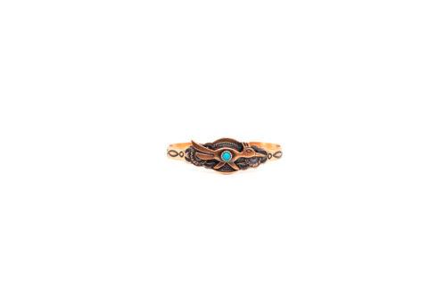 Vintage Rare Native American Navajo Copper Childs Womens Thunderbird Cuff Bangle
