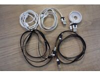 FS: Five 1 meter Micro USB to USB flat noodle data sync cables