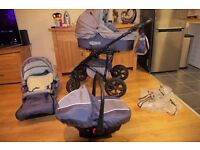 baby travel system 3 in 1 - car seat, pram and stroller