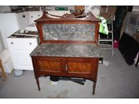 ANTIQUE MARBLE TOP WASHSTAND VANITY £100 ONO