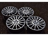 """18"""" Ford Focus RS Style Alloy Wheels Brand New Hyper Silver Mondeo S C Max Transit Connect"""
