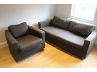 Habitat Chester 3 Seater Sofa + Armchair in Charcoal, £1,895 new