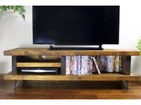 Didama solid Dark Oak TV Stand for TV's up to 70 inches. Brand New, was £202.99 selling for £100.