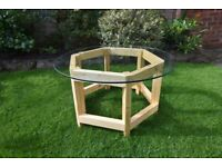 Rustic handmade round Coffee/occasional table