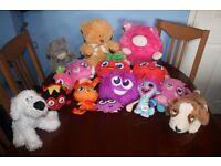 Job Lot no.4 – 15 x Children's Soft Toys inc. Ten Moshi Monsters, Large Bear and Tatty Teddy