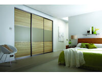 Made to Measure Wardrobes Sliding Doors - Glass, Wood Effect, Mirror - UK Delivery
