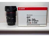 Canon 24-70 f2.8 II lens