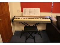 Digital Piano with weighted keys