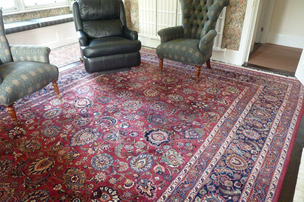 High Quality Traditional Hand Made Wool Rug 4 X 3 Metres 13 Ft X 10