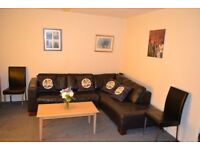 A 2 bedroom ground floor flat with free parking is available for rent