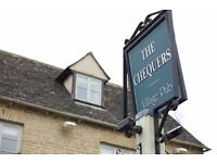 Kitchen Porter Required for Beautiful Destination Restaurant - The Chequers in Churchill