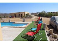 Spain Get away from it all in a Two bedroom chalet with pool in the heart of the Tabernas Desert.
