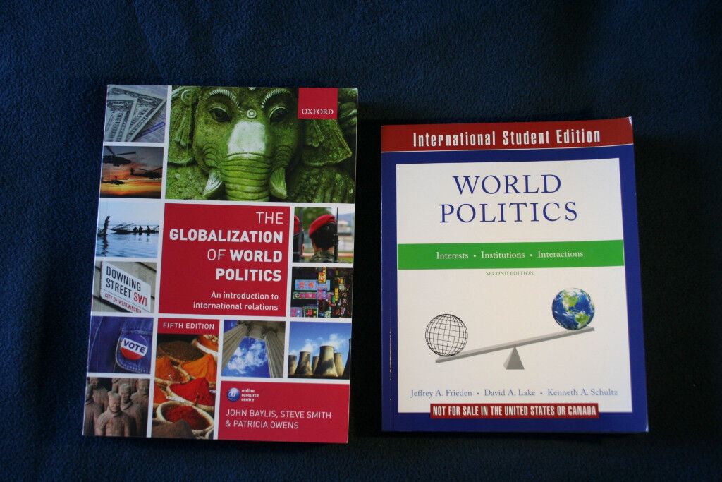 2 International Relations and Politics books | in Chiswick, London | Gumtree
