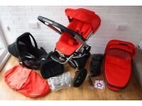 Red Revolution Quinny Buzz pram travel system with Maxi Cosi car seat 3 in 1 CAN POST