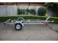 NEW Boat Trailer 4.0m 750kg - Adjustable Drawbar - Keel Rollers - Winch - TEMA