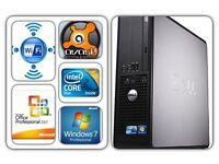 DELL OPTILEX 755 PC [DVD R/W+WiFi(300mbps)WINDS 7+160 HDD +4GB RAM+OFFICE7+ANTI VIRUS)