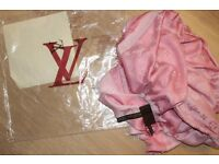 Luxury Louis Vuitton Pink colour Scarf /Shawl – brand new