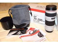 CANON EOS DSLR 100D WITH 18-55mm IS AND OPTIONAL 70-200mm F4 L LENSES