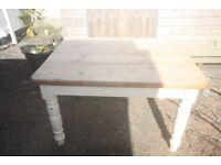 Farmhouse style dining table.