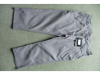 Craghopper Ladies Kiwi Procrop stretch trousers size 14 in Platinum with Solarshield fabric